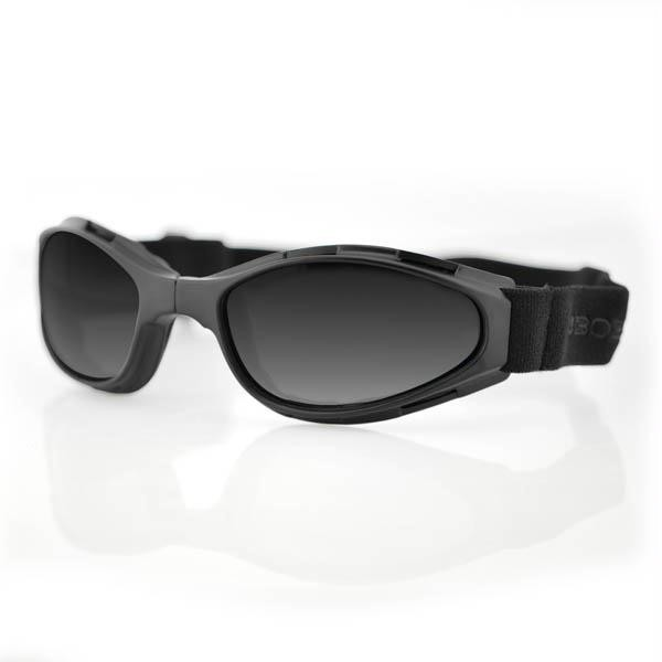 Crossfire Folding Goggles, Smoked Lens, Black Frame