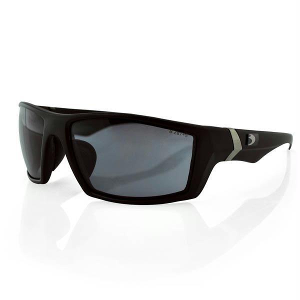 Whiskey Ballistics Sunglasses, Smoked Lens, Black Frame