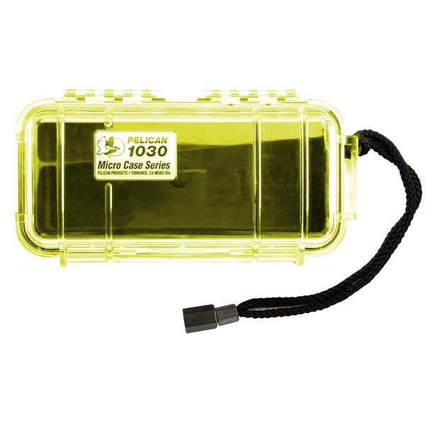 Micro Case Clear, Yellow, 7.5 x 3.88 x 2.44