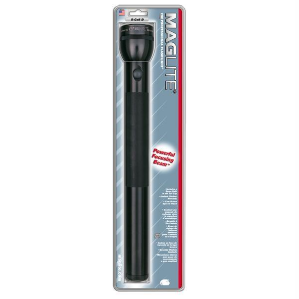 5 D Cell Flashlight, Black