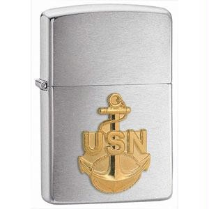 Brushed Chrome, Navy Anchor Emblem