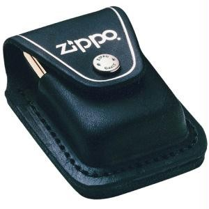 Leather Lighter Pouch w/Loop, Black
