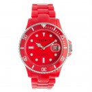 Fusion Color Link, Red Dial & Plastic Link Band