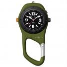 Military Mini Clip, Black Dial, Green Case