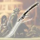 Kit Rae Mithrodin Sword With Art Print