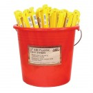 Tent Stake, Plastic 12 in., 100 Piece Bucket
