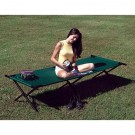 Jumbo Folding Camp Cot, Forest Green, 300 lb. Weight Limit