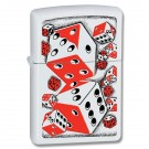 White Matte, Vintage Red/Black Dice