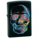 Black Matte, Skull w/Multi-Colored Abstract Paint