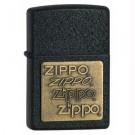 Black Crackle, Zippo Brass Emblem